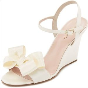 Kate Spade bow wedges
